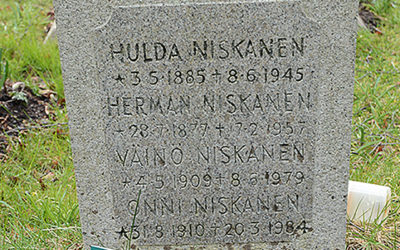 Sten nr 089 – Onni Niskanen