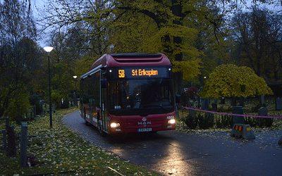 Dagen du kan ta bussen runt kyrkogården